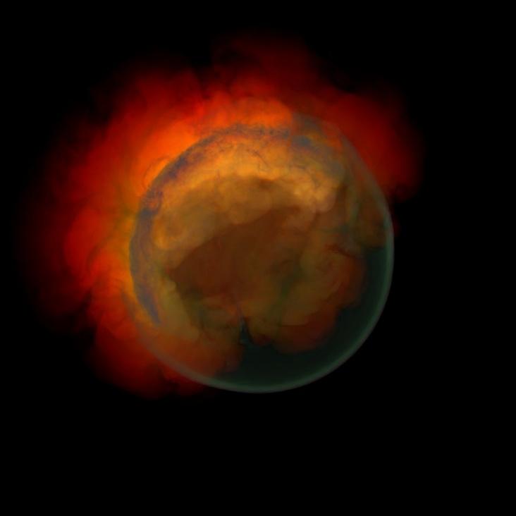 Planeet pluto ontploft