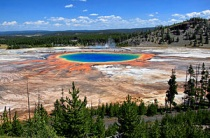 Grand Prismatic Spring en Midway Geyser Basin in Yellowstone National Park