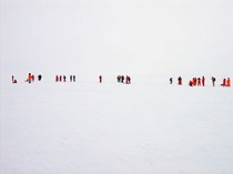 Whiteout op Antarctica.