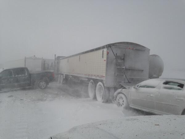 Car Pile Up In Sioux Falls South Dakota